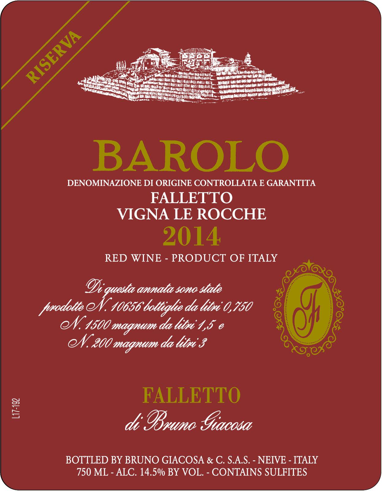 Bruno Giacosa Barolo Falletto Vigna Le Rocche Riserva Folio Fine Wine Partners
